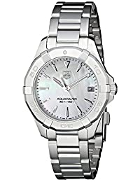 TAG Heuer Women's WAY1312.BA0915 Aquaracer Analog Display Quartz Silver Watch