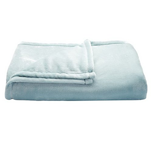 The Big One Oversized Plush Throw (Light Blue Solid) - 5ft x 6ft Super Soft and Cozy Micro-Fleece Blanket for couch or - Light Fuzzy