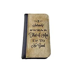 Harry Potter Quote I solemnly iPhone 4/4s Leather Wallet Case By caseOrama