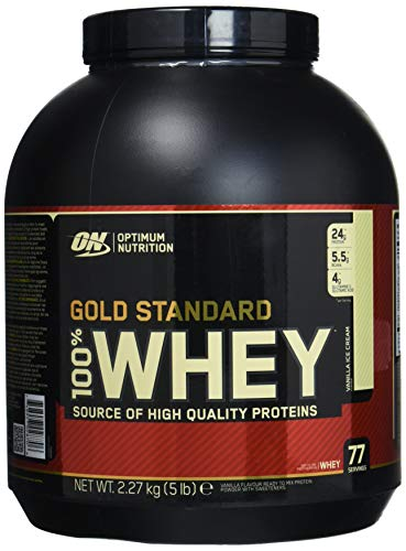 Optimum Nutrition Gold Standard Whey Vanilla Ice Cream - 5 lbs