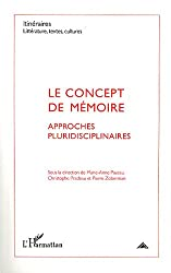 Itinéraires, littérature, textes, cultures, N° 2/2011 : Le concept de mémoire : approches pluridisciplinaires