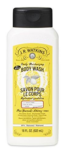 (J.R. Watkins Daily Moisturizing Body Wash, Lemon Cream, 18 ounce (Pack of 6))