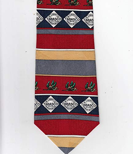(Tabasco Sauce Hot Pepper Sauce 100% Imported Silk Tie Necktie Stripe)