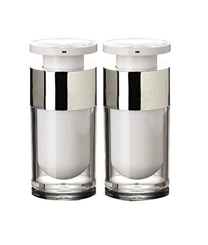 TOPWEL 2PCS 15ml/30ml/50ml Empty Refillable Acrylic High-grade Airless Vacuum Pump Cream Lotion Bottle (15ML)