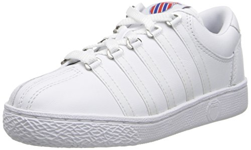 K-Swiss 501 Classic Tennis Shoe ,White,2.5 M US Little Kid