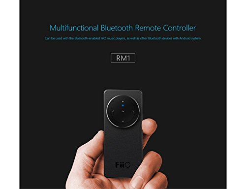 FiiO RM1 Multifunctional Bluetooth Remote Controller for X7 Music Player, Black/Silver