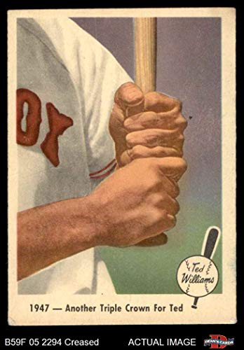 (1959 Fleer # 33 Another Triple Crown Ted Williams Boston Red Sox (Baseball Card) Dean's Cards 3 - VG Red Sox)