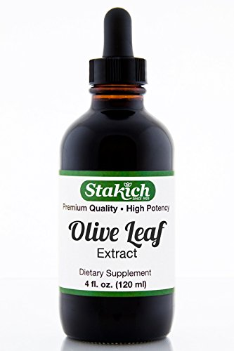 Stakich Olive Leaf (Olea europa) 4 oz Liquid Extract – Top Quality
