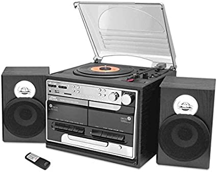 Amazon.com: Pyle pttcsm70bt – Estilo clásico Record Player ...