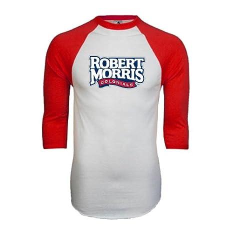 quality design bf724 81d78 Amazon.com : Robert Morris White/Red Raglan Baseball T-Shirt ...