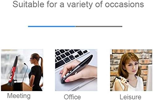 Grey HUFAN PR-03 2.4G USB Receiver Adjustable 1600 DPI Wireless Optical Pen Mouse for Computer PC Laptop Drawing Teaching Color : Red