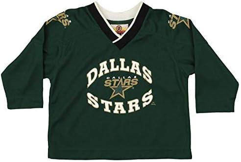 0e967430532 Mighty Mac Dallas Stars NHL Little Boys Toddler Vintage Long Sleeve Jersey  Shirt, Green (