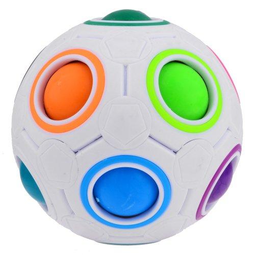PuzzleToy Spherical Magic Cube 3D Intelligence Puzzle Magic Rainbow Ball Educational Toys Cubes