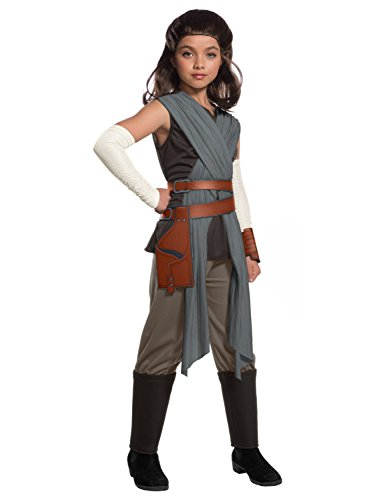 Rubie's Star Wars Episode VIII: The Last Jedi, Child's Deluxe Rey Costume, Large