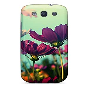 New Arrival Case Cover With PRdSDVv6501WnwAW Design For Galaxy S3- Purple Flowers
