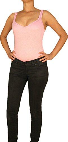 C&H Damen Tank Top Bodyshirt, Bodybluse, pink 40/L.