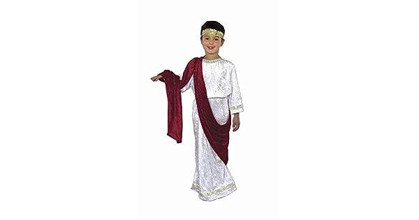 Amazon.com: Caesar Kids Costume, XS, Blanco / rojo: Toys & Games