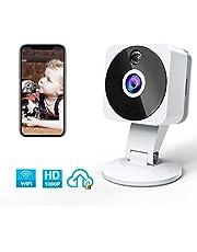 Camara IP WiFi, NIYPS HD 1080P Camara Vigilancia con Vision Nocturna, Audio de 2 Vías, Deteccion de Movimiento y Cloud, Camara de Seguridad Interior para Bebe/Ancianos/Mascota Monitoreo