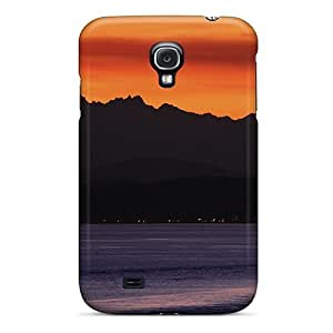 Slim Fit Tpu Protector Shock Absorbent Bumper Orange Sunset Case For Galaxy S4 by icecream design