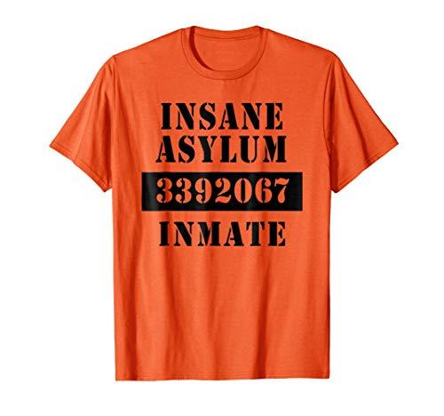 INSANE ASYLUM Tshirt INMATE Halloween Costume]()