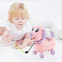 SaleON Electric Walking Singing Flashing Robot Dog Puppy Toys, Electronic Interactive Animal Pet Kid Toy Sound Light Music (Assorted-Colors)