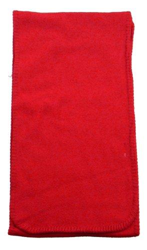 (Simplicity Men / Women Winter Anti-Pilling Fleece Neck Scarf, Red,plus-size)