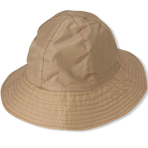 Rain Hat Sun Hat 2-in-1 Reversible Cloche Bucket Hat By DEBRA WEITZNER,Beige,One Size