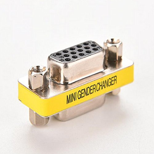 - 5pcs VGA Gender Changer Female to Female SVGA HD15 Adapter Coupler Convertor