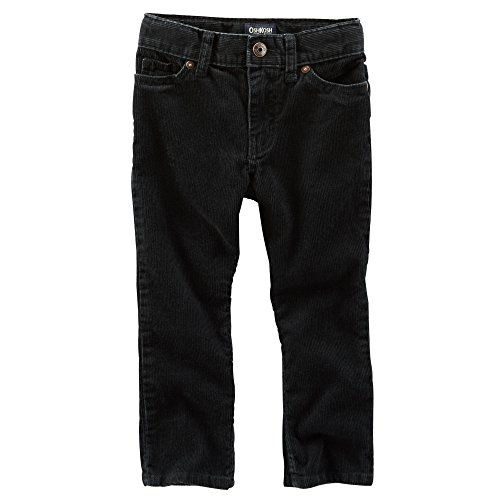 Oshkosh Boys Straight 5-Pocket Corduroys; Black, 12 - Corduroys Pocket Five