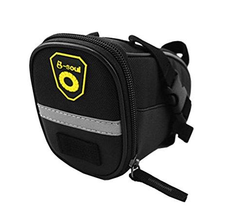 Topsung Bicycle Strap-On Saddle Bag / Seat Bag Black