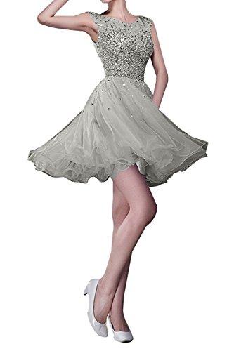 Linie Heimkehr Partykleider mia Kurzes Festlichkleider La Tanzenkleider Cocktailkleider Steine A Abendkleider Silber Rock Braut SwgPP0xR