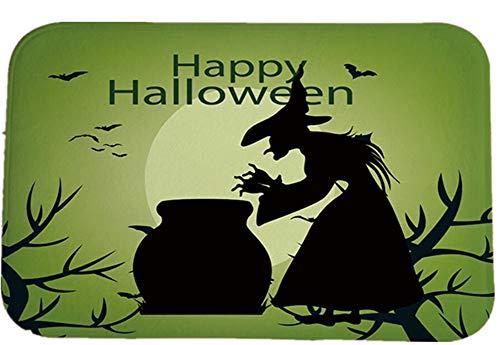 ZHOUXUELI Halloween Round Square Foot mat Bathroom Kitchen