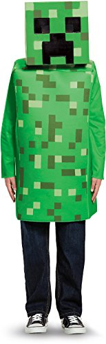Creeper Classic Minecraft Costume, Green, Medium (7-8)