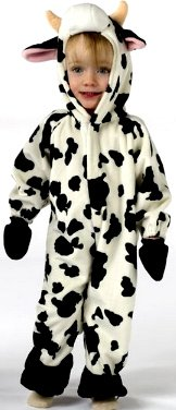 Infant Cuddly Cow Costume 6-12 (Toddler Cow Costume 2t)