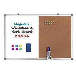 36 x 24 Magnetic Whiteboard and Cork Boa...