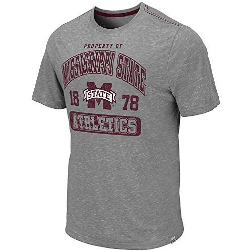 (Colosseum Mens Mississippi State Bulldogs Campinas Short Sleeve Tee Shirt - M)