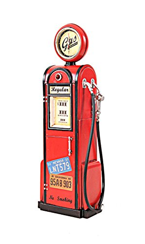 Gas Pump Vintage Antique Reproduction Metal Model 21