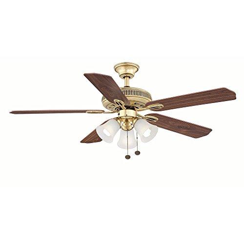 Hampton Bay Glendale 52 in. Indoor Flemish Brass Ceiling Fan