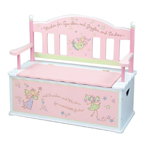 wildkin fairy wishes toy box bench. Black Bedroom Furniture Sets. Home Design Ideas