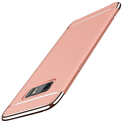 Samsung Galaxy Note 8 Case Xeber Ultra-Thin Hard Premium Matte Shockproof 3 in 1 PC Cover for Galaxy Note 8 (2017) (Samsung Galaxy Note 8, Rose Gold)