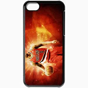 Personalized iPhone 5C Cell phone Case/Cover Skin 6 Damian Lillard Portland Trail Blazers 1680x1050 basketwallpapers.com Black