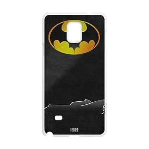Batman Batmobile Samsung Galaxy Note 4 Cell Phone Case White y2e18-408677