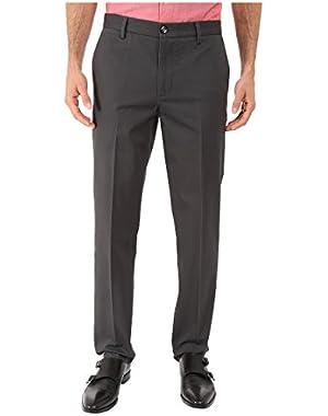 Men's Signature Khaki Slim Tapered Flat Front, Steelhead, 42 X 32