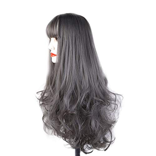 XILALU Fashion DIY Natural Wave Wigs for Women Middle Part Heat Resistant Cosplay Wig ()