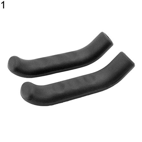 - geshiintel Bicycle Mountain Bike Hand Brake Lever Handles Handbrake Protection Covers Grips - Black