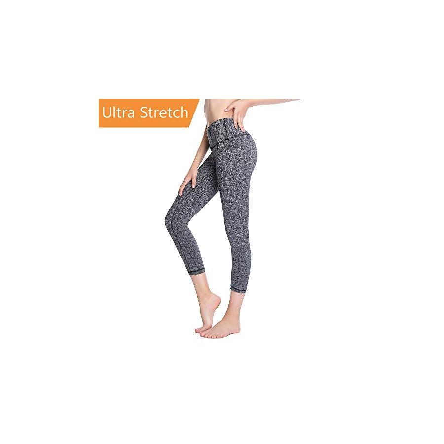 ZEALOTPOWER Yoga Pants for Women Capri Tummy Control High Waist with Pocket