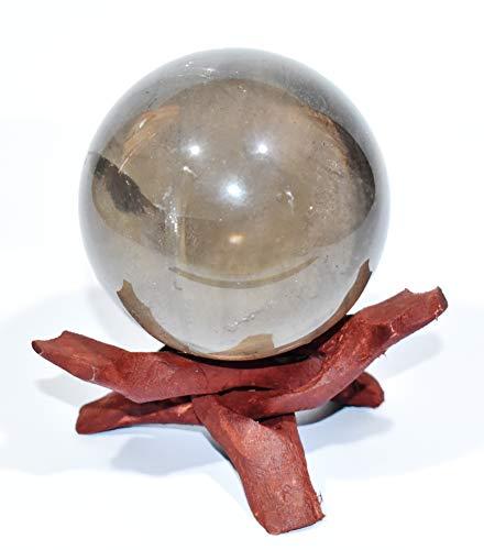 Pyramid Tatva Sphere - Smoky Quartz Size - (1-1.5) inch Natural Crystal Healing & Harmony ()