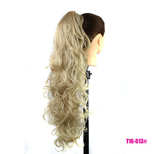 Price comparison product image 75Cm Long Curly Ponytail 220G Artificial Synthetic Tress Claw In Pony Tail Hair Extension Natural False Women's Hairpiece P1B/27 30inches