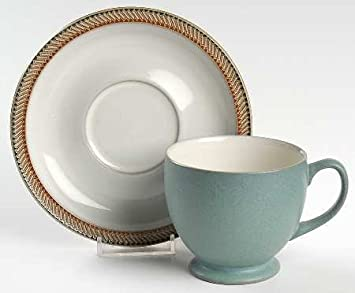 Amazon.com | Denby Langly China LUXOR Cup and Saucer - Handcrafted ...