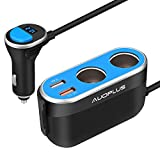Cheap Quick Charge 3.0 Car Charger, AUOPLUS 96W 2 Socket Cigarette Lighter Power Adapter 12V/24V DC Outlet Splitter 5.4A Dual USB Ports for iPhone Android Samsung GPS Dash Cam